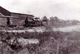 Train at the Amiens railway terminus - p