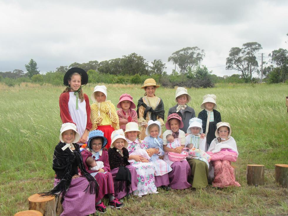 Amiens Girls in Period Dress.JPG