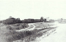 An Up Goods hauled by C17 No. 946 halts