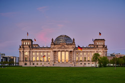 Berlin Reichstag at romantic Sunset, the