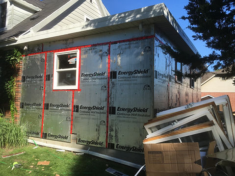 old aluminum siding removed and new wind