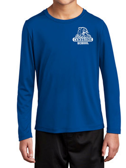 Youth Athletic Moisture Wick Long Sleeve T