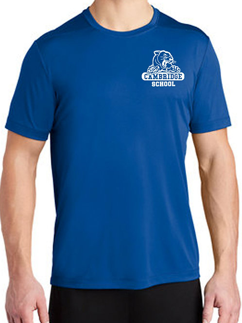 Athletic Moisture Wick T Shirt Adult