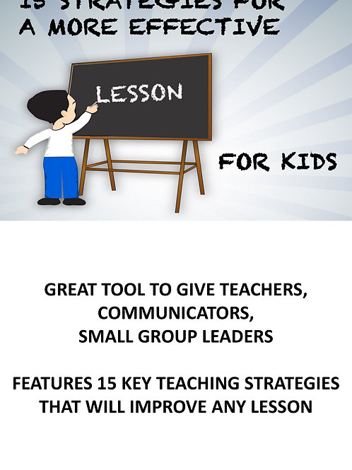 15 Strategies for a More Effective Lesson for Kids