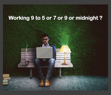 Working 9 to 5 or 7 or 9 or midnight?