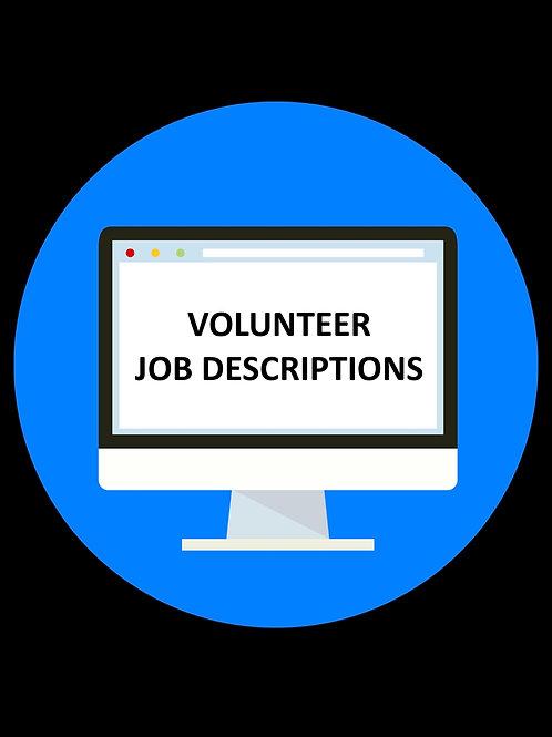Volunteer Job Descriptions (8 total)
