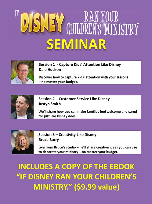 If Disney Ran Your Children's Ministry Seminar (video)