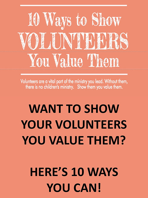 10 Ways to Show Your Volunteers You Value Them