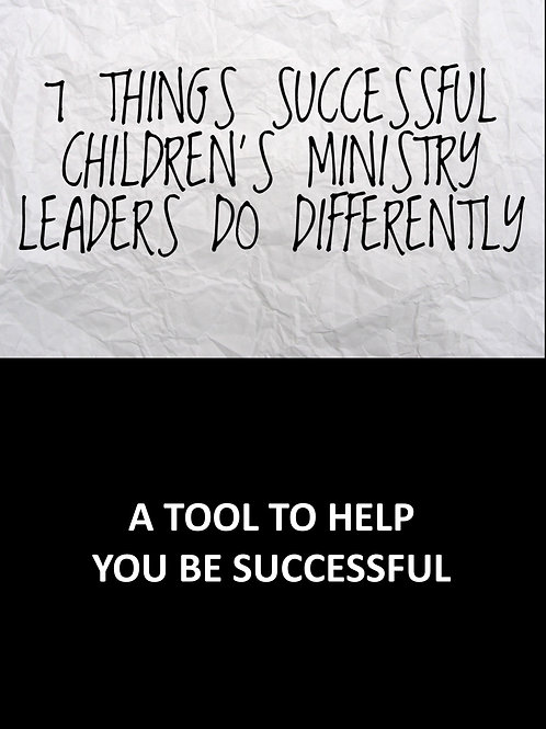 7 Things Successful Children's Ministry Leaders Do Differently