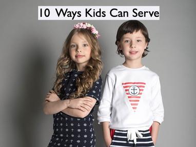 10 Ways Kids Can Serve