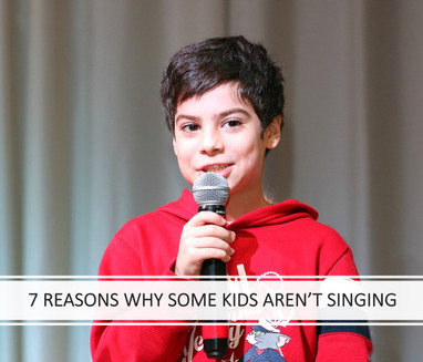 7 Reasons Why Some Kids Aren't Singing
