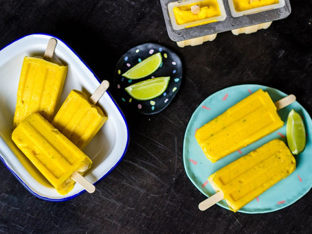 MANGO & LIME POPSICLES by Frankie's Feast