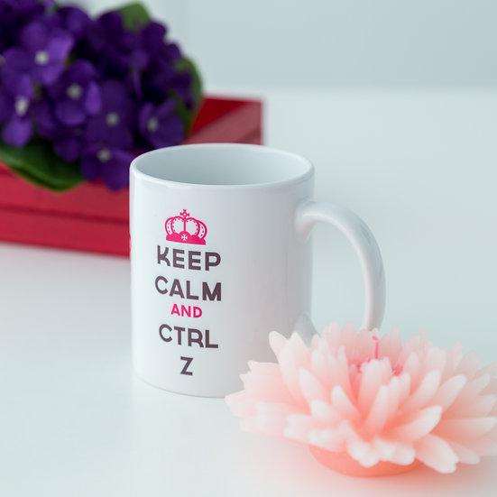 Caneca - Keep Calm and CTRL Z