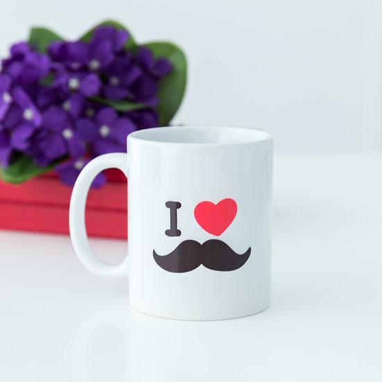 Caneca - I love Moustache