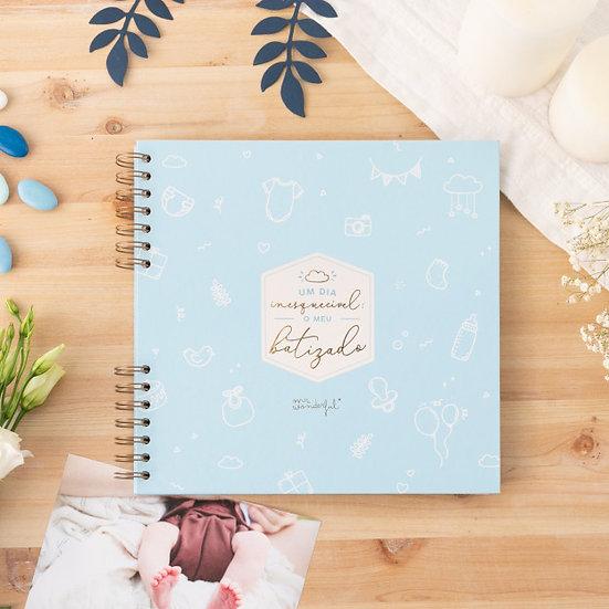 Álbum Mr. Wonderful Azul - Um dia Inesquecível o meu batizado