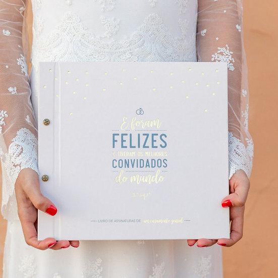 Livro de assinaturas de um casamento genial!