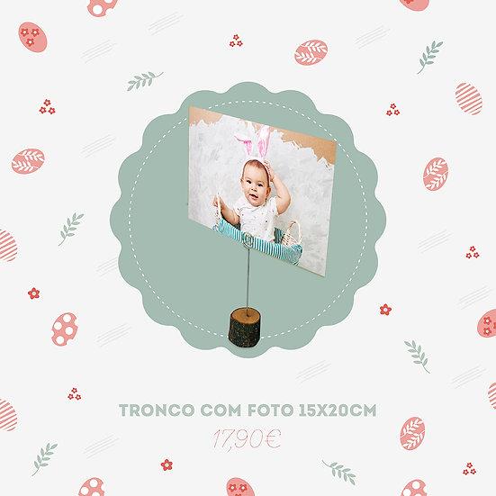 Tronco com Foto 15x20cm
