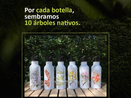 ¡Tiempo de siembra! Por cada botella, nos ayudas a sembrar 10 nuevos árboles nativos!