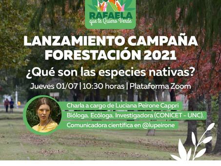 El 2021 trae más árboles para la ciudad de Rafaela