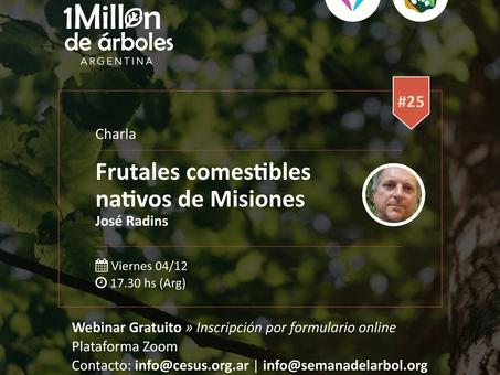 Frutales comestibles en Misiones: ¡no te pierdas el próximo Webinar!