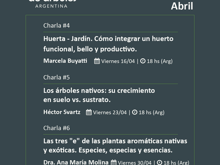 Conocé la agenda de Abril del Ciclo de Webinars de #MillóndeÁrboles