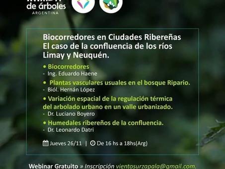 Biocorredores en Ciudades Ribereñas: sumate al webinar