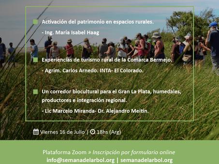 16 de julio, un nuevo encuentro del Ciclo Biocorredores y Turismo de Cercanía. ¡Anotate!