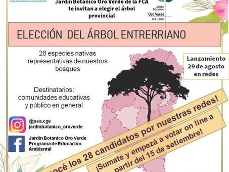 Entre Ríos se suma y lanza la elección del árbol entrerriano #ProvinciasEnAcción