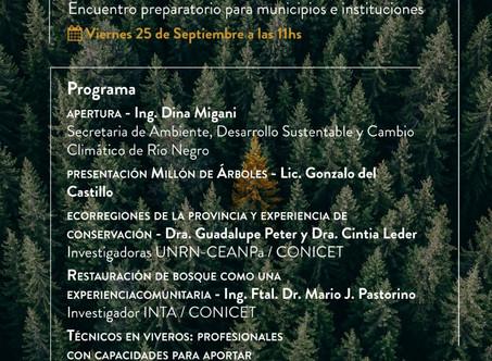 Río Negro celebra su primer encuentro preparatorio de la campaña #millóndeárboles