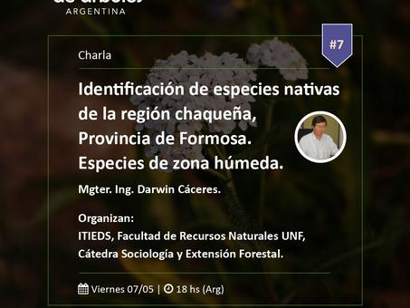 ¡Este viernes! Especies nativas de Formosa en el Ciclo de Webinar de #MillóndeÁrboles