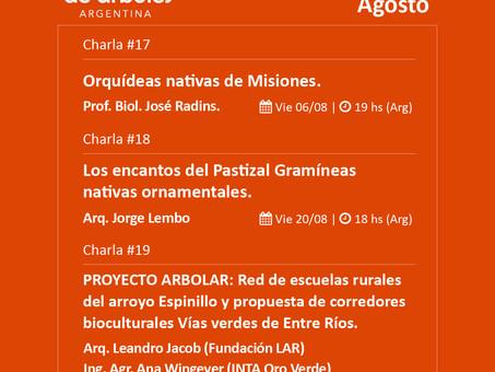 Conocé la agenda de agosto del Ciclo de Webinars de #MillóndeÁrboles