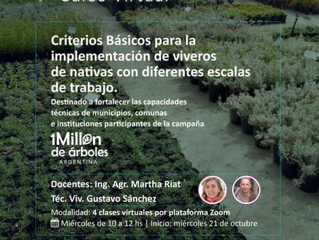 Finalizó el curso sobre especies nativas para el arbolado urbano a cargo del Ing. Eduardo Haene.