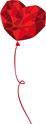 Красное сердце воздушный шар
