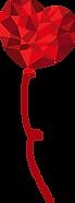 Roter Herz-Ballon