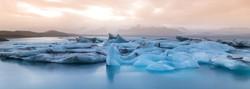 Sunset Icebergs
