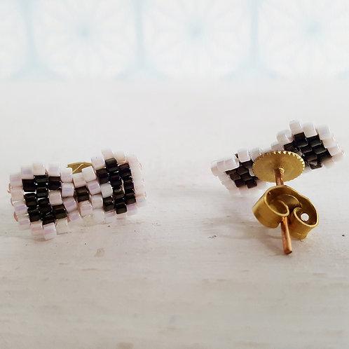 Boucles d'oreilles Nœud Noir