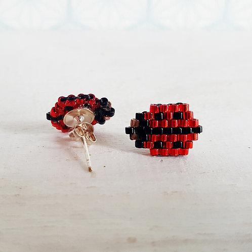 Boucles d'oreilles Coccinelle (réservé)