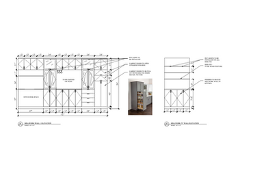 Residential Kitchen Millwork Drawing