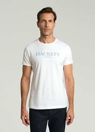 T-SHIRT HACKETT BLANC COL ROND