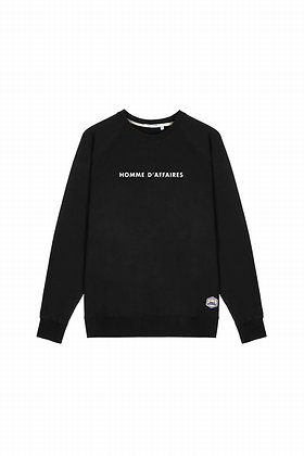 SWEAT COL ROND FRENCH DISORDER SWEAT COL ROND  BLACK - HSW3-HOMME