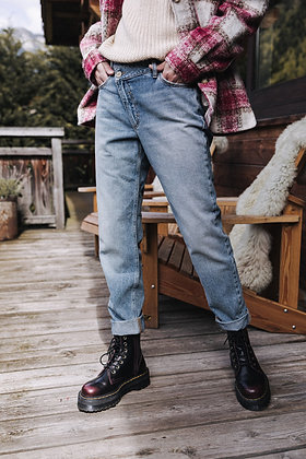 JEANS LARGE FREEMAN JEANS LARGE FERMETURE DECALEE FITZ - HARPER