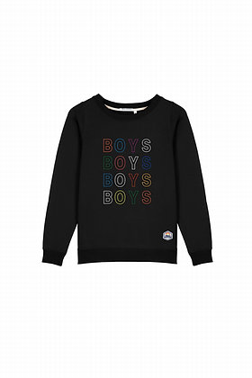 SWEAT COL ROND FRENCH DISORDER SWEAT COL ROND BRODERIE BLACK - FSW2-BOYS
