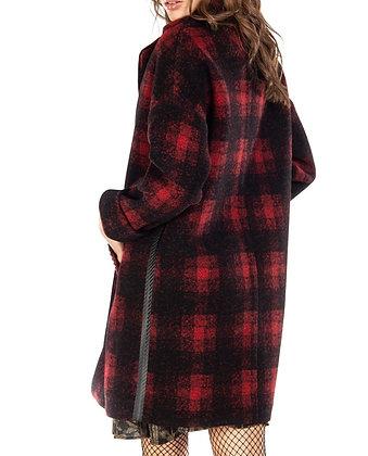 Manteau en drap de laine à carreaux Mason's
