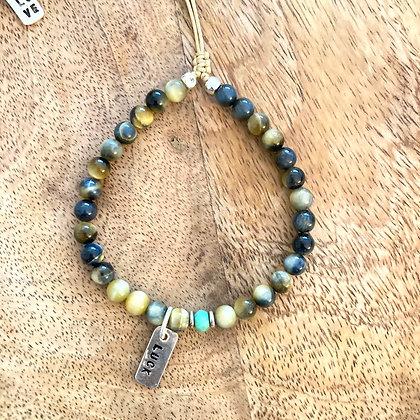 Bracelet Homme *luck & oeil de faucon* Atelier K13