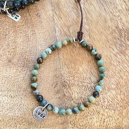 Bracelet Homme *luck & Opale D'Afrique* Atelier K13