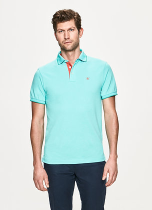 POLO HACKETT TURQUOISE MAILLE PIQUEE