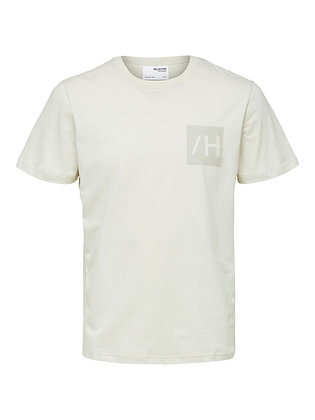 T-SHIRT SELECTED BEIGE