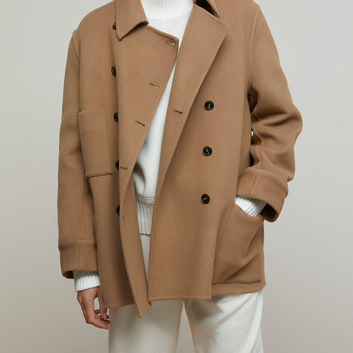 Manteau court laine