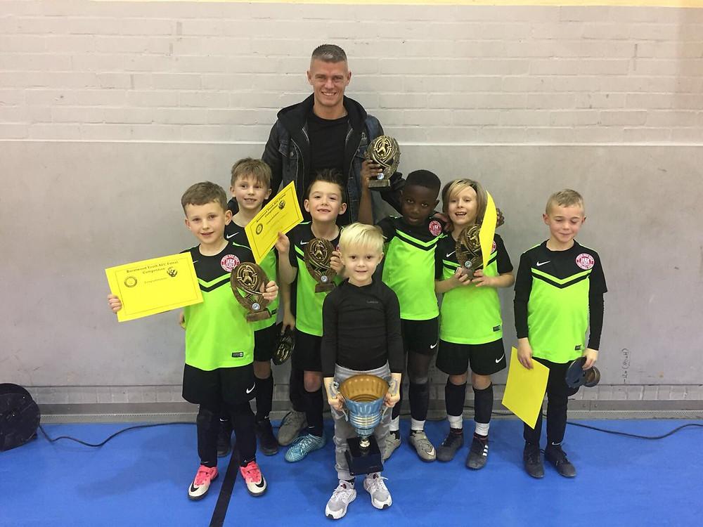 Byron U7 Eagles winning the Vision Futsal tournament