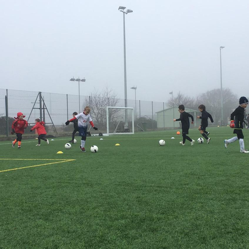 Football training at FB9